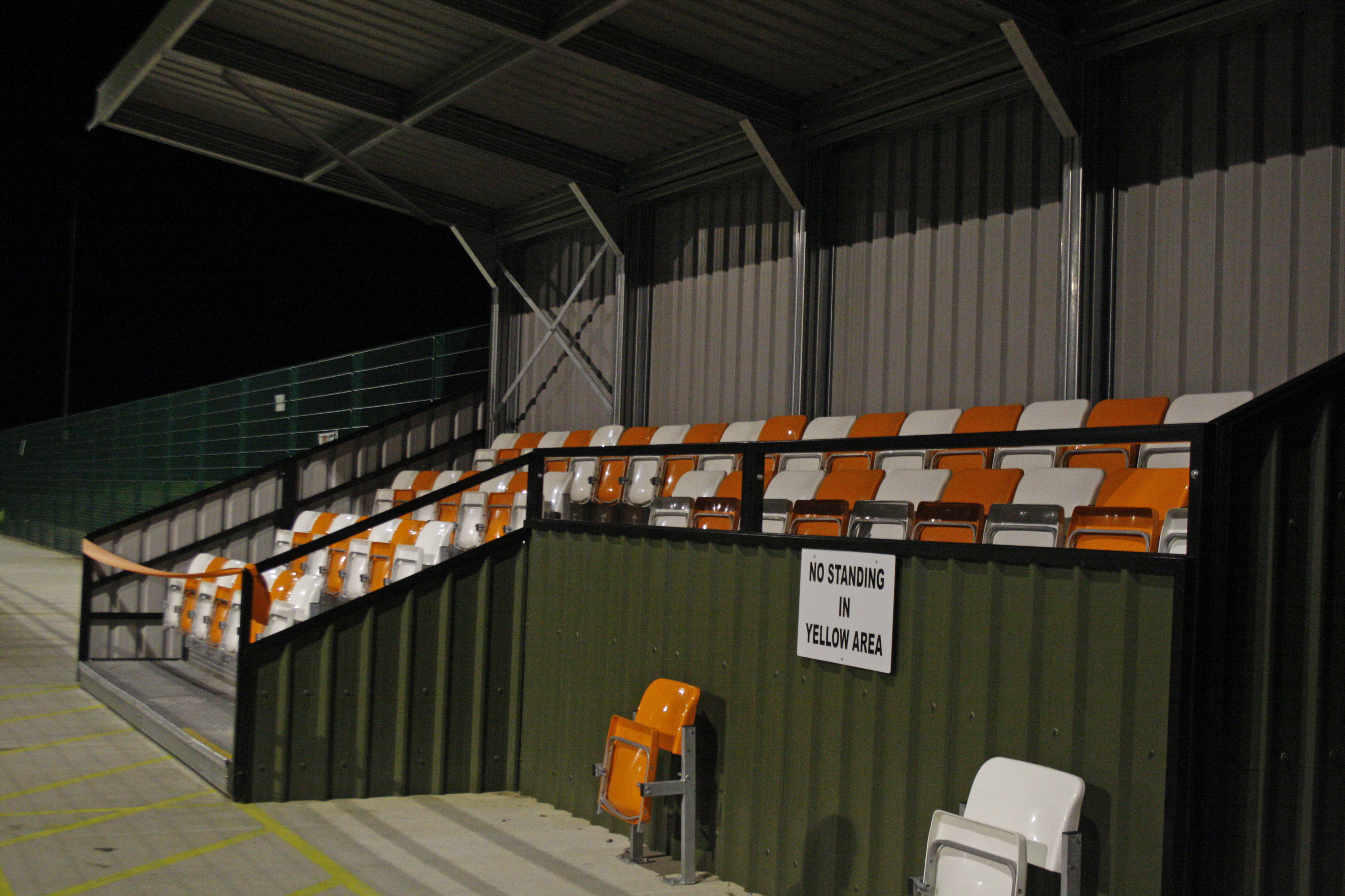 Rugby Borough FC Stand