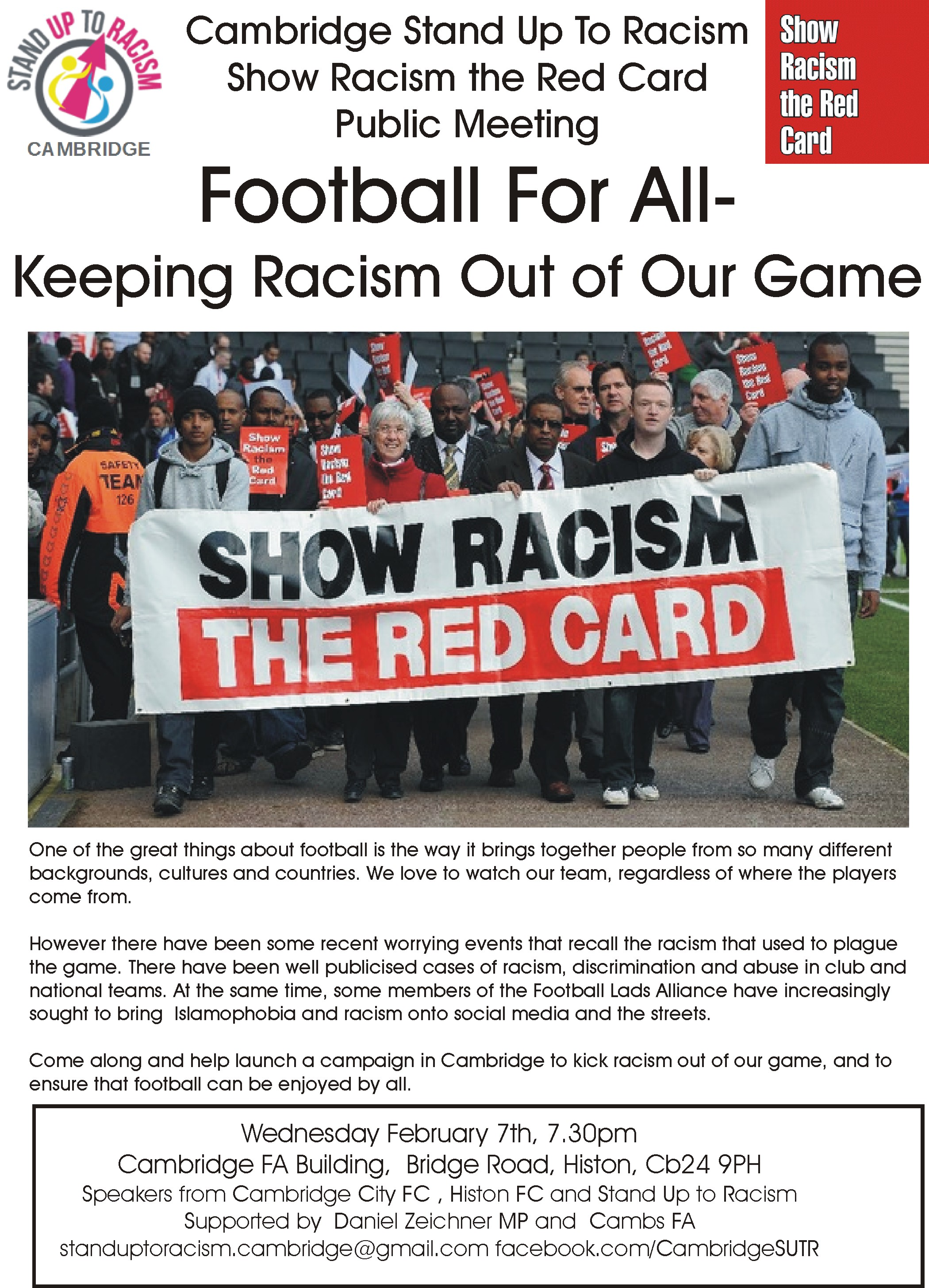 Cambs Stand Up To Racism