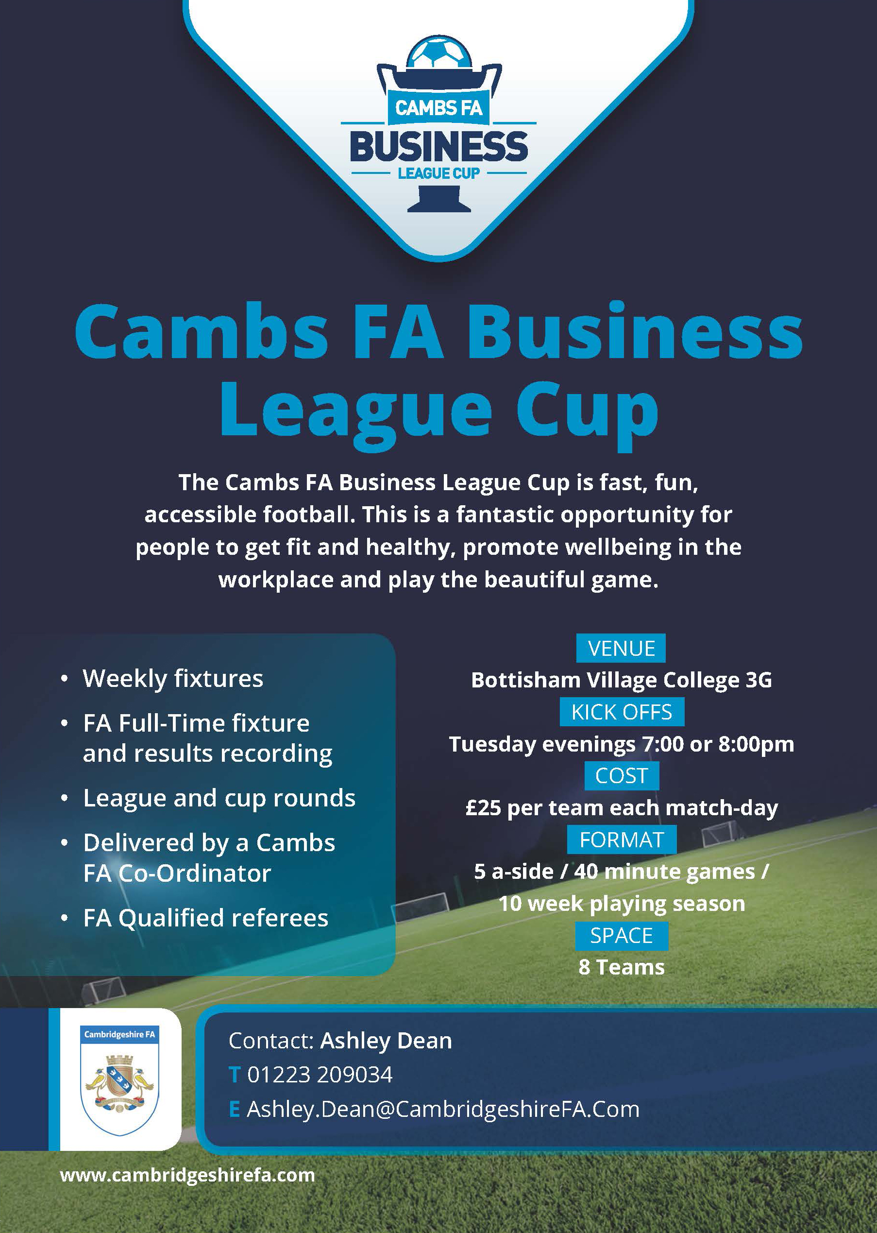 Cambs FA Business League Cup at Bottisham 3G