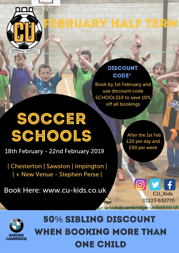 CUFC Feb soccer school