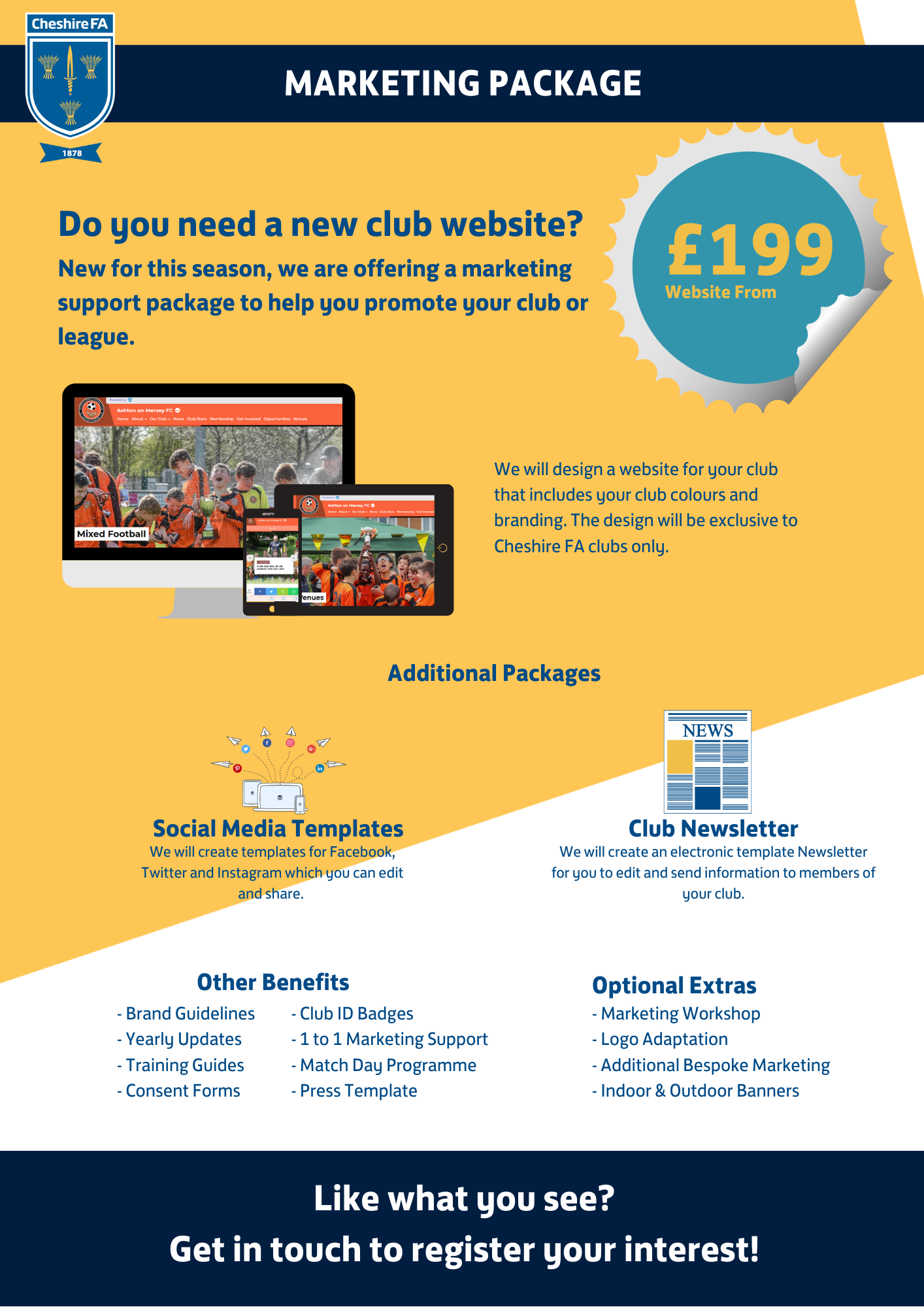 Club Marketing Package cheaper advert