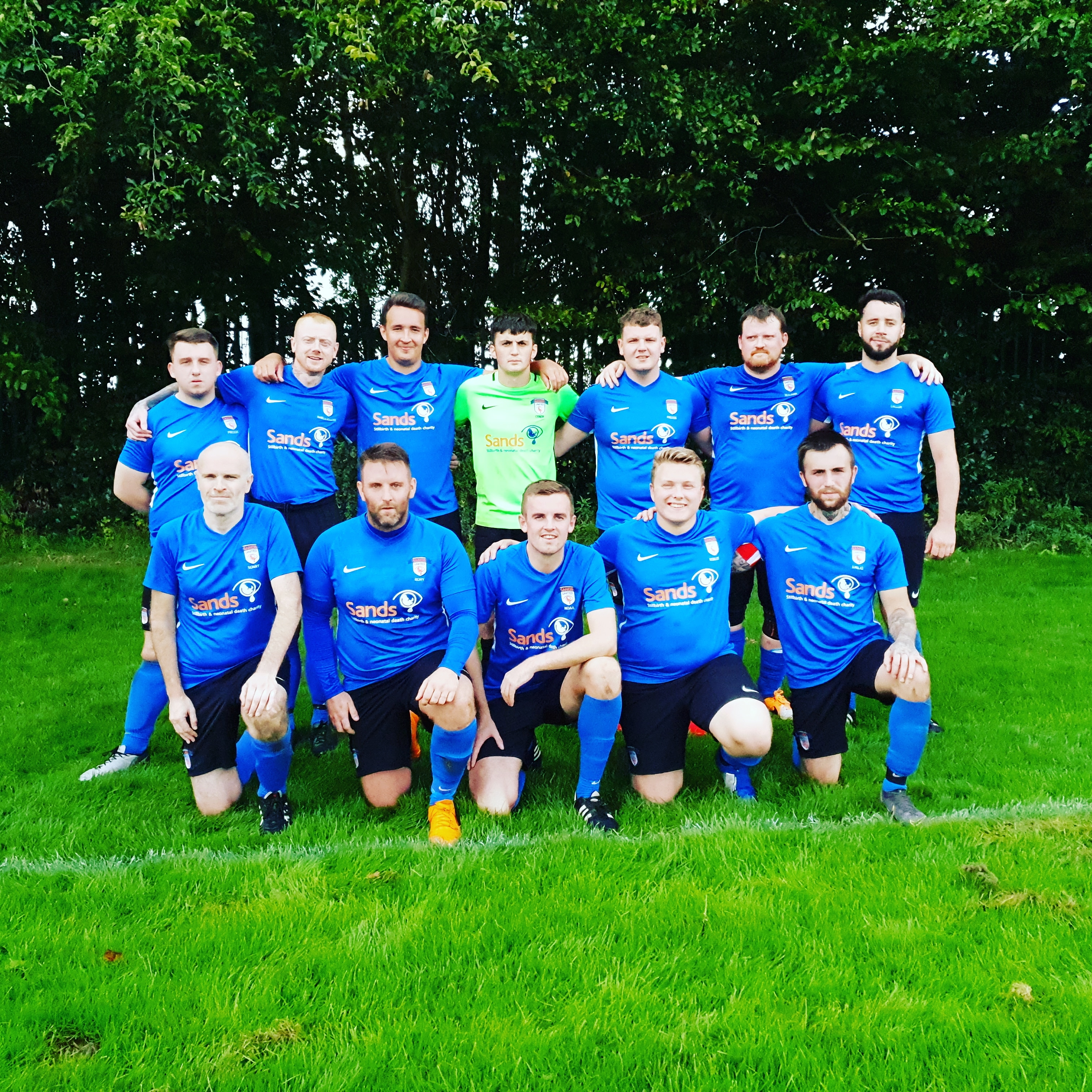 Sands United FC Stockport early lineup