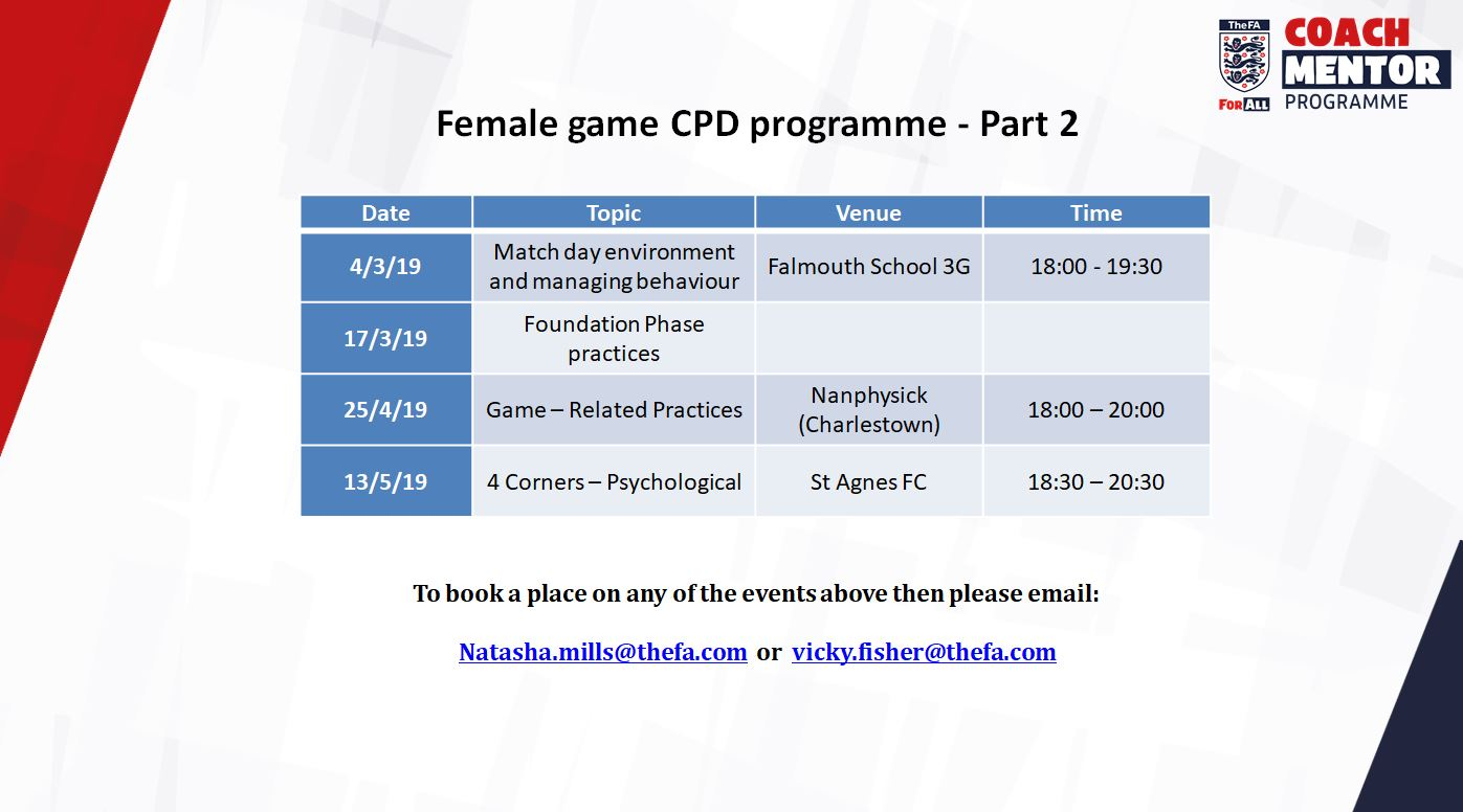 Female Game CPD