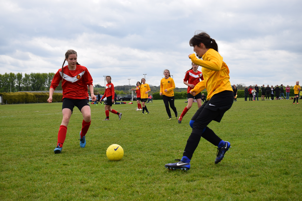 U14's Girls Action Shot