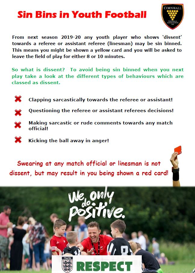 Sin Bins in Youth Football
