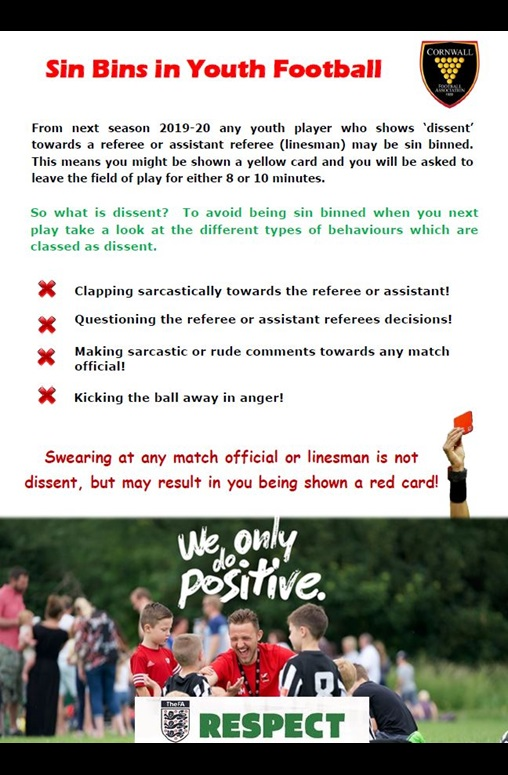 Cornwall FA Youth Sin Bin Poster