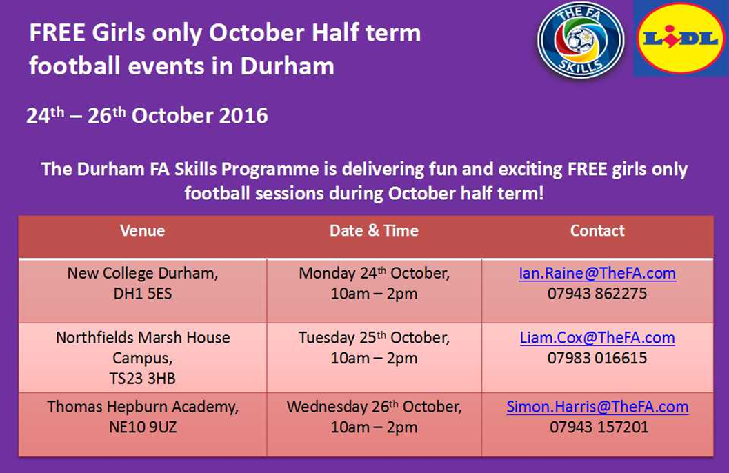 FA Skills Girls Only Sessions