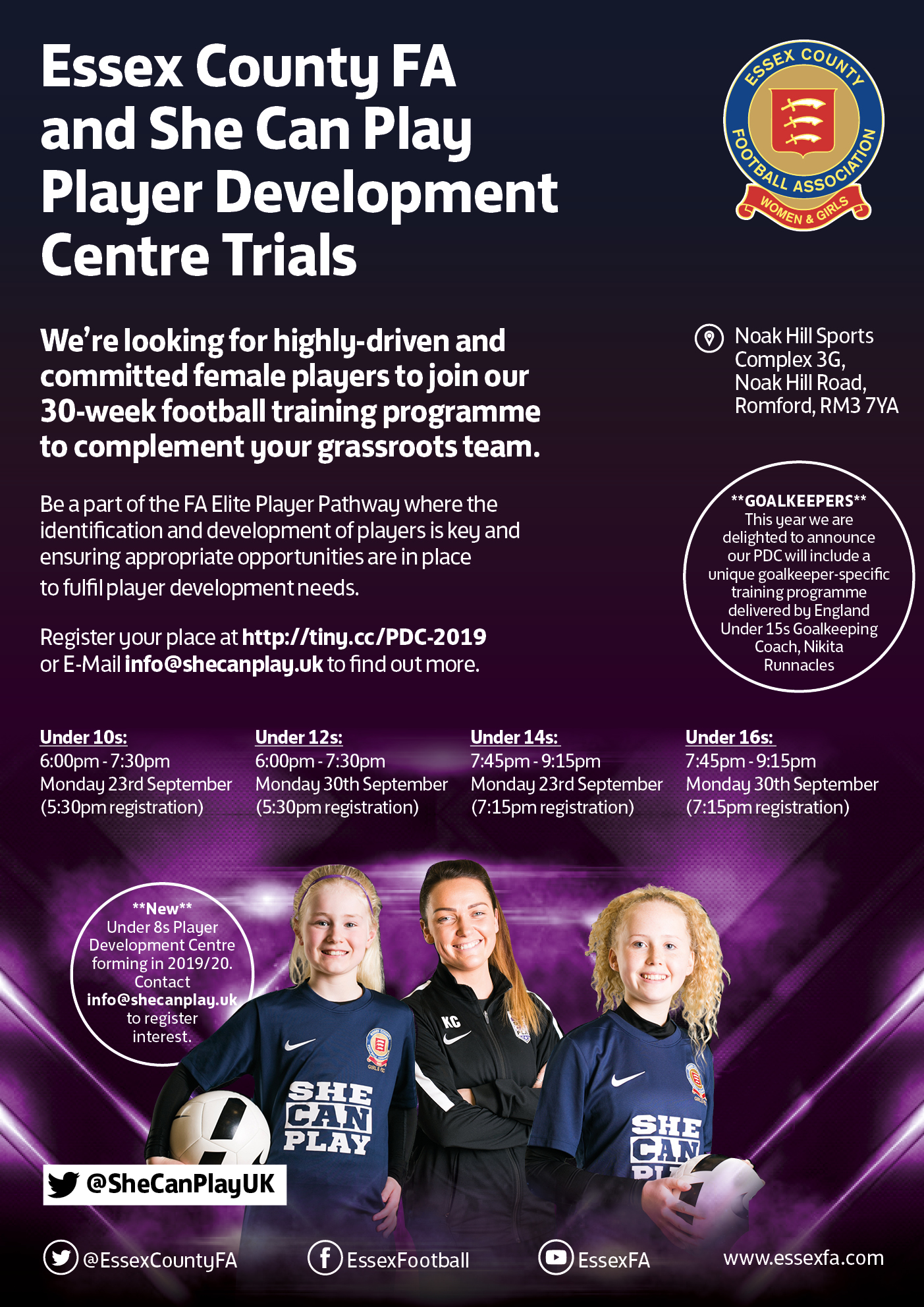 Girls Player Development Centre Trials