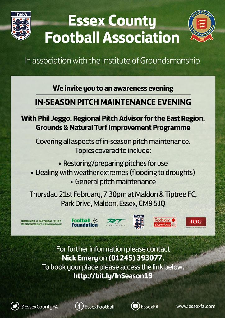 In-Season Pitch Maintenance Evening