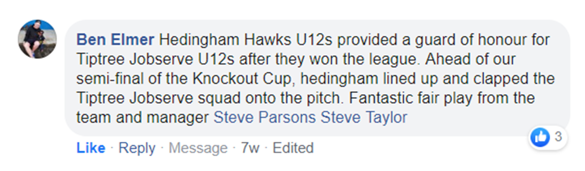 Hedinghams United Under 12s (Hawks)