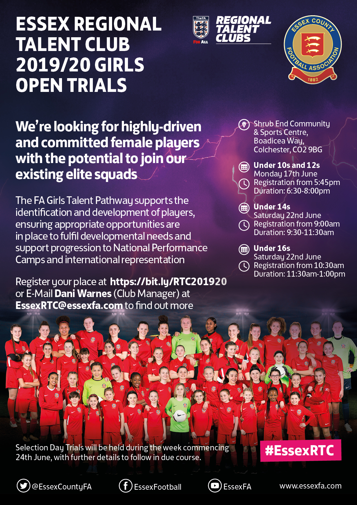 Regional Talent Club Trials