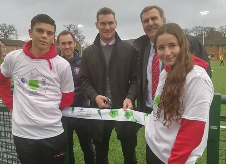Exeter City boss and Hartpury university graduate opens new floodlit third generation (3G) artificial grass pitch (AGP) at Hartpury University and Hartpury College in Gloucestershire (Wednesday 27 November).