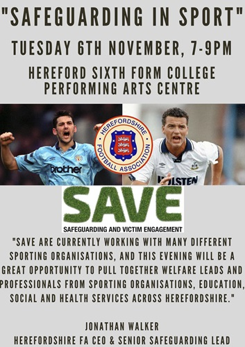SAVE Visit Herefordshire FA Safeguarding