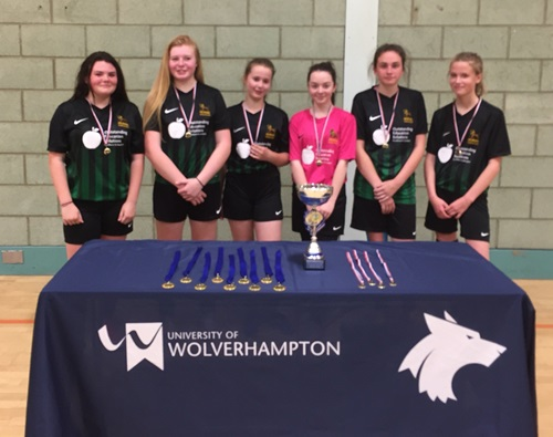 Earl Mortimer Girls runners up regional futsal