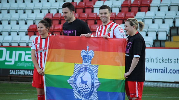 Tackling Homophobia in Hertfordshire - Stevenage FC
