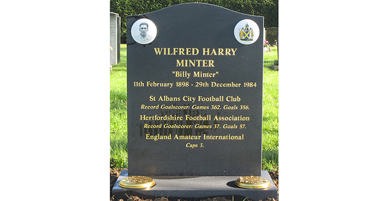Wilfred 'Billy' Minter's Memorial Headstone