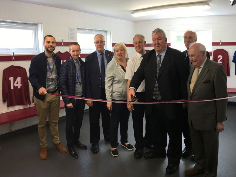 Potters Bar Town FC held a celebration event for their improved changing and clubhouse facilities