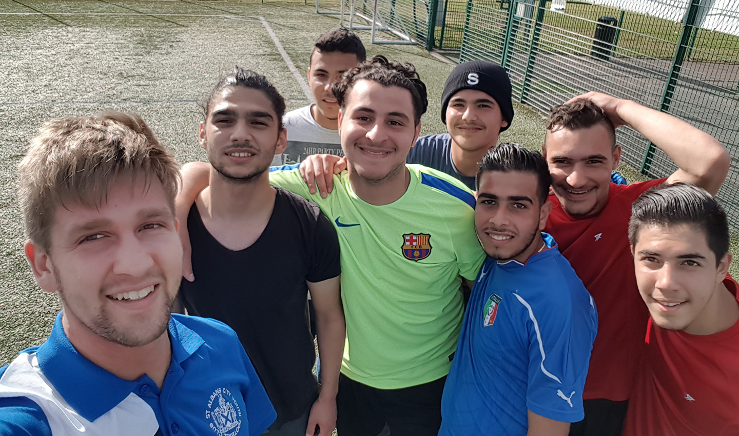 St Albans City Youth FC played a friendly match against a group of young refugees