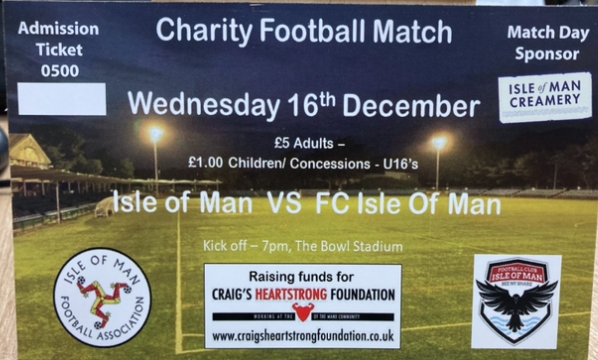 CHARITY GAME 16TH DECEMBER