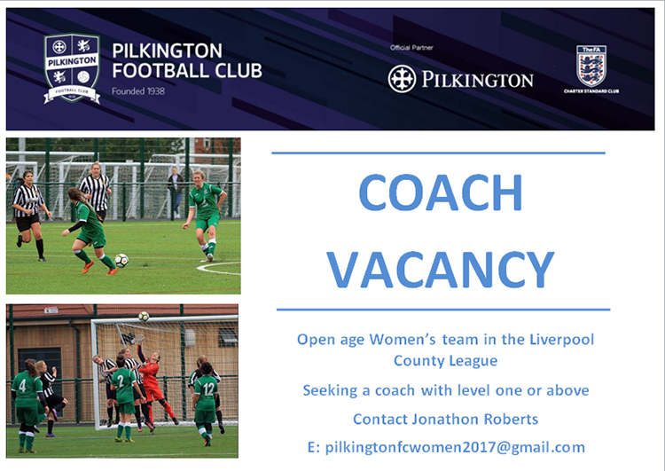 Pilkington FC Coach Vacancy