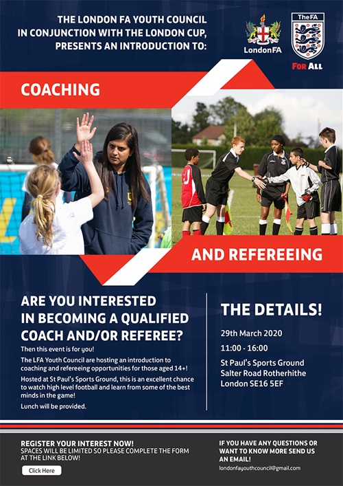 London FA Workforce Event - 29 March 2020