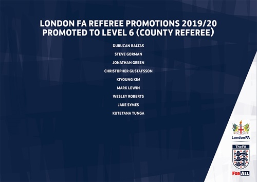 Referee Promotions 2019-20