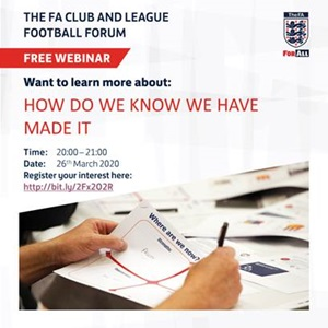 Webinar - How Do We Know We Have Made It