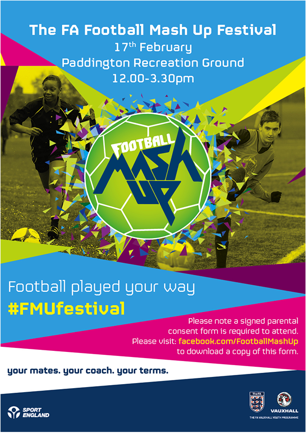The FA Football Mash Up Festival Flyer MIXED