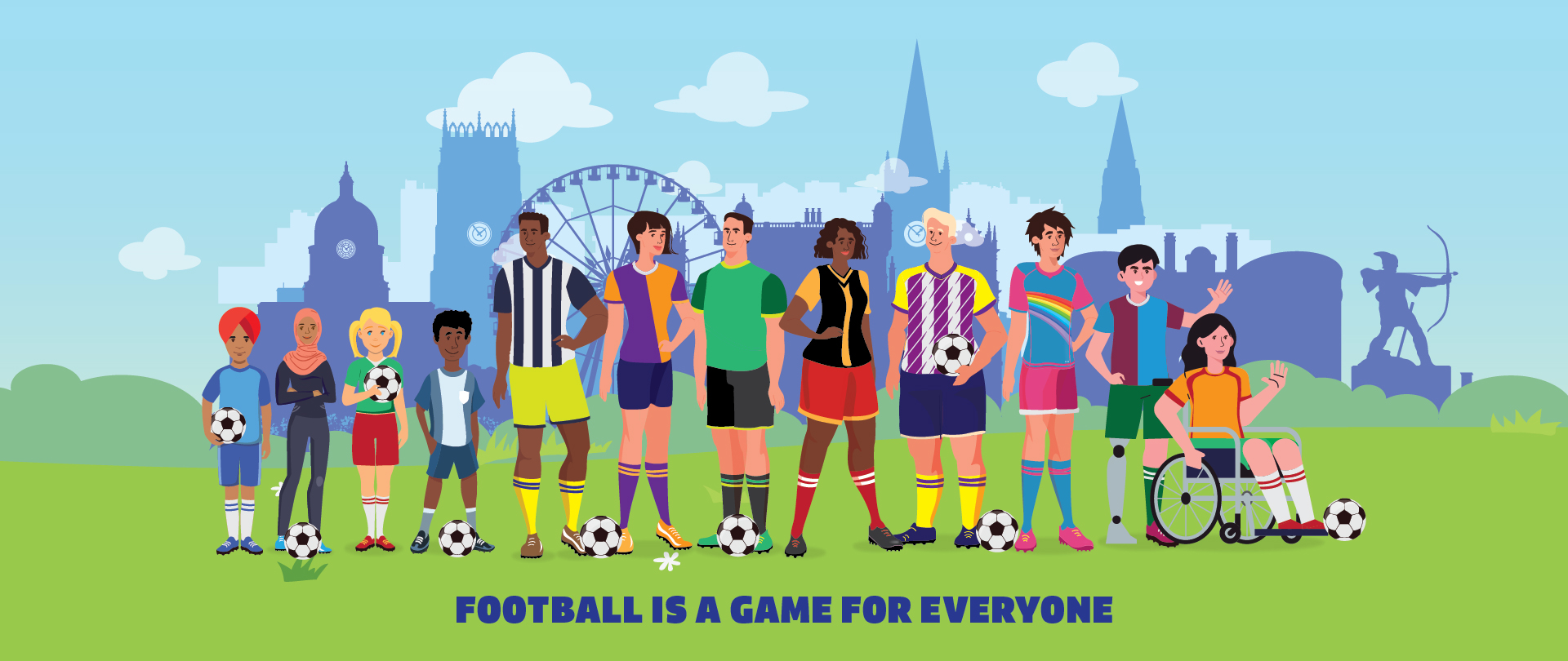 football is a game for everyone banner