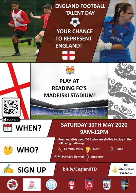 England Talent Day - May 2020