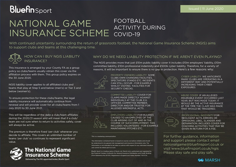 NGIS & COVID-19 - Returning to Football Guidance