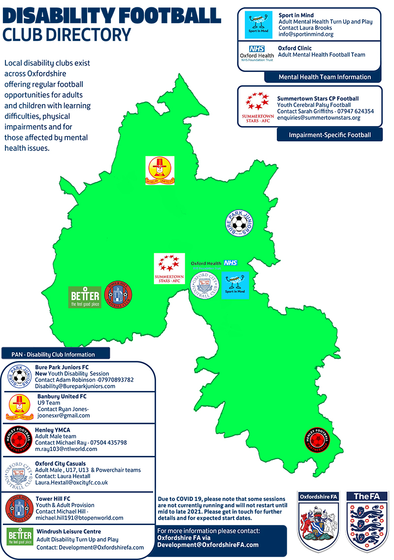 Oxfordshire FA Club Directory