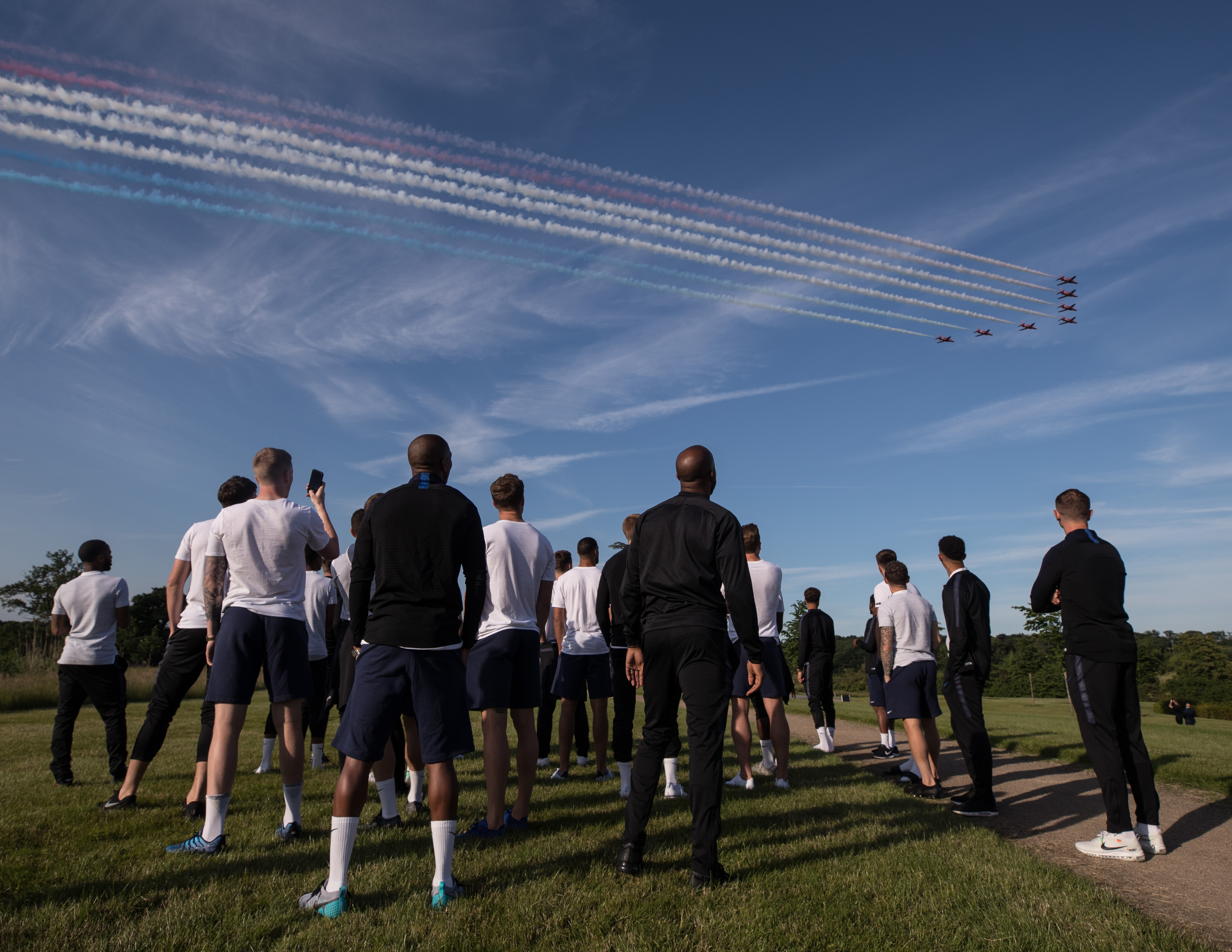 Red Arrows over St Georges Park
