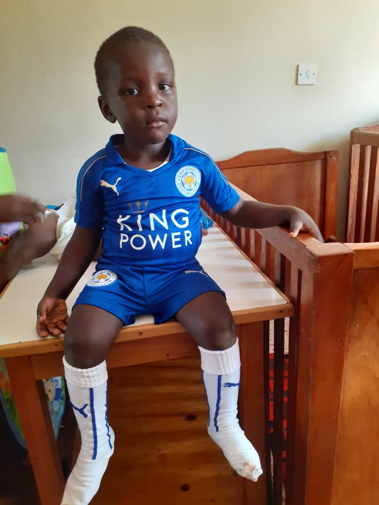 Leicester City kit at Hope House Orphanage Nairobi Kenya