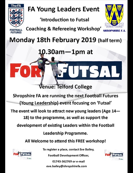 Young Leadership Futsal Event Poster