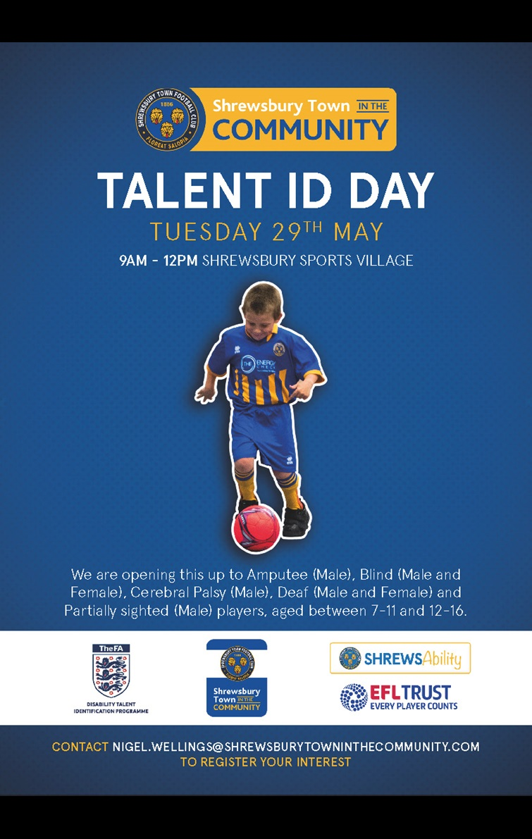 England Talent Day Poster