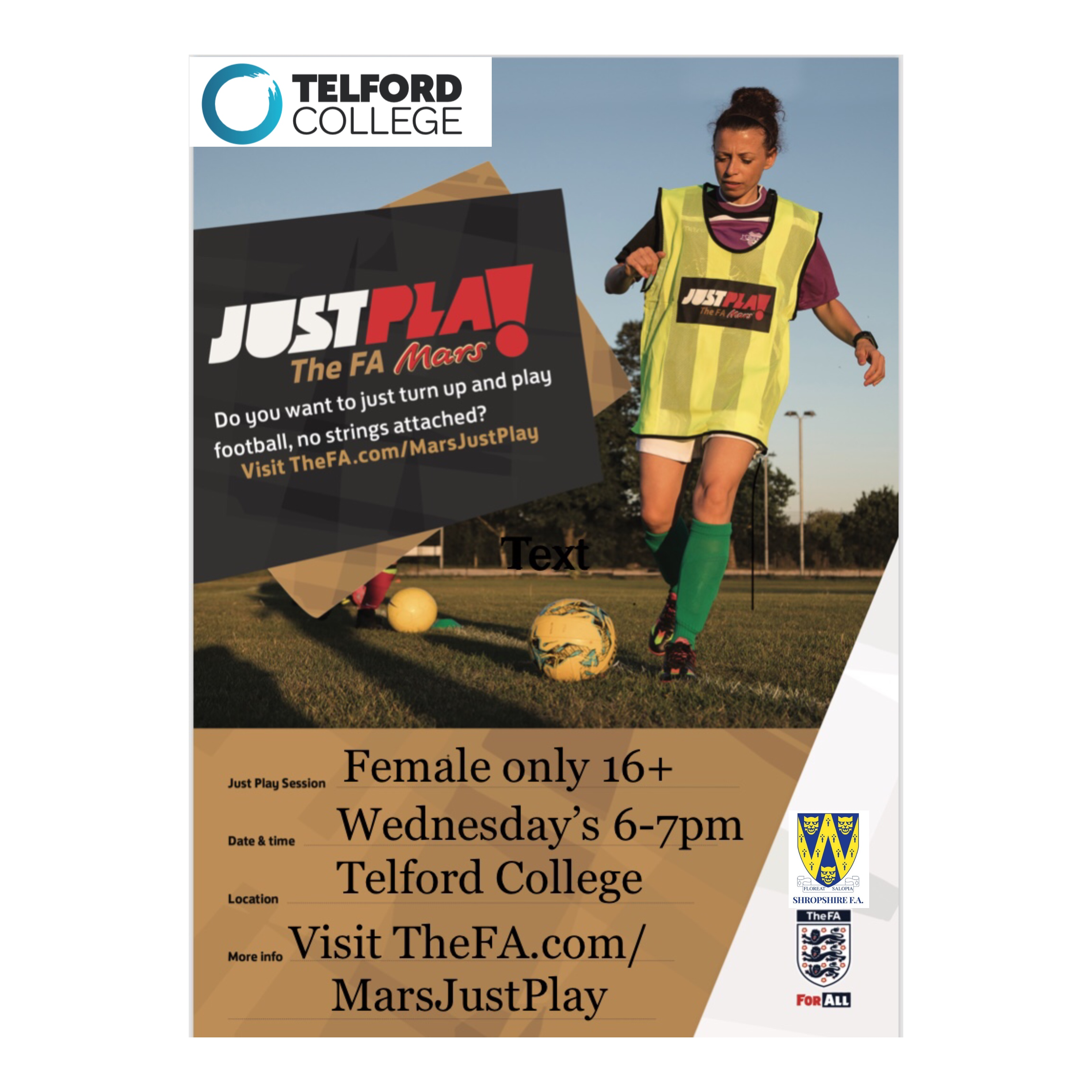 FA Just Play Female Poster