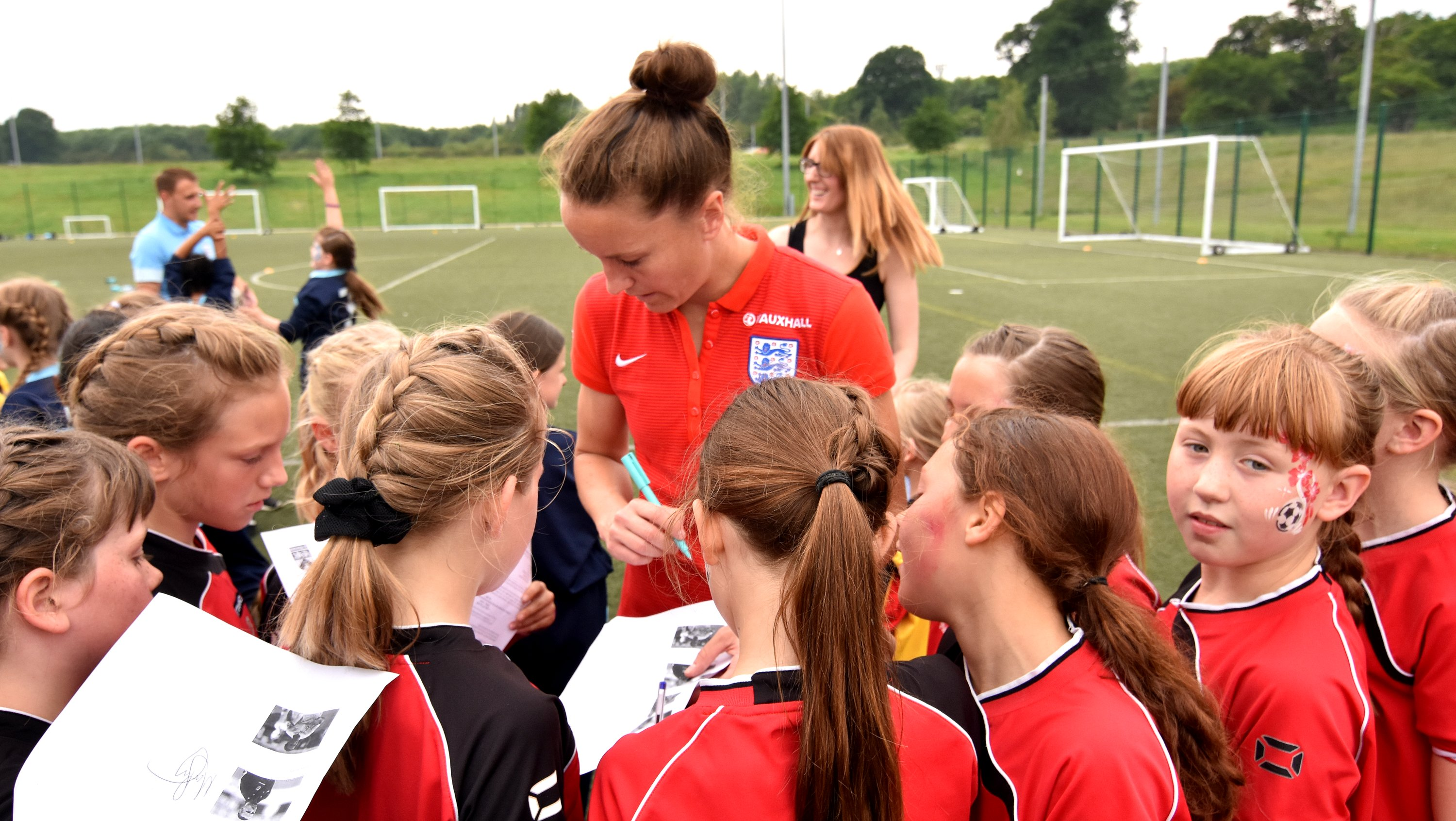 Casey Stoney with kids
