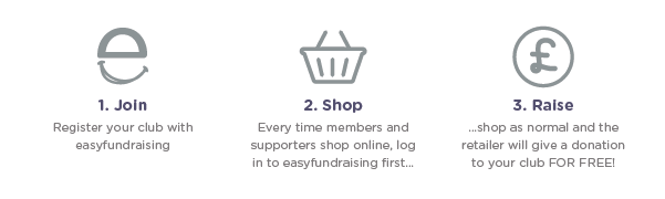 Leagues & Clubs - Finance - Easyfundraising - 3 Steps