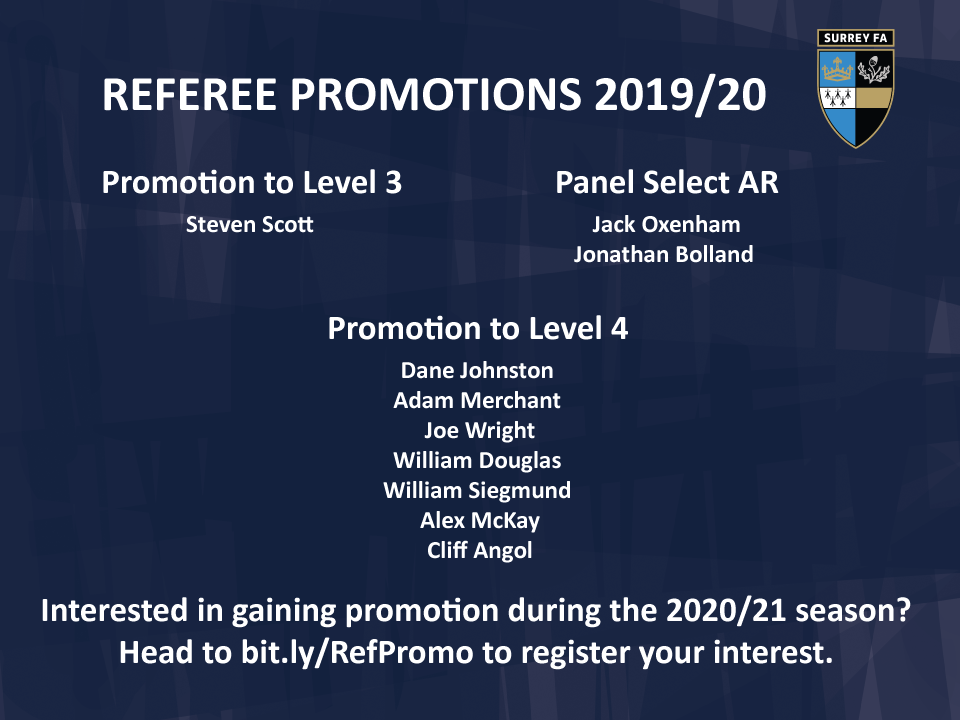 Referee Promotion 2019-20