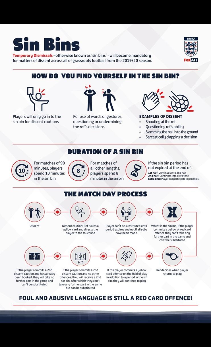Sin Bins Infographic