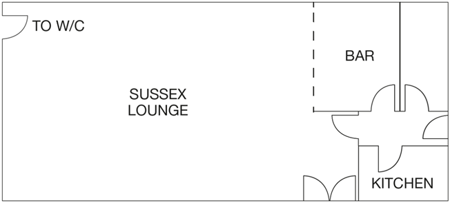 Sussex Lounge layout