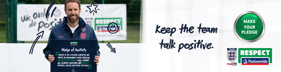 The FA Charter Standard homepage billboard 970x250