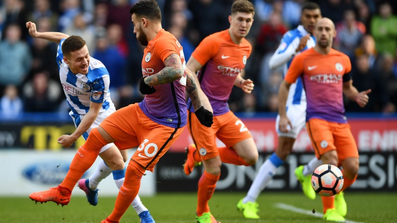 Aguero's double leads Man City into FA Cup quarterfinals