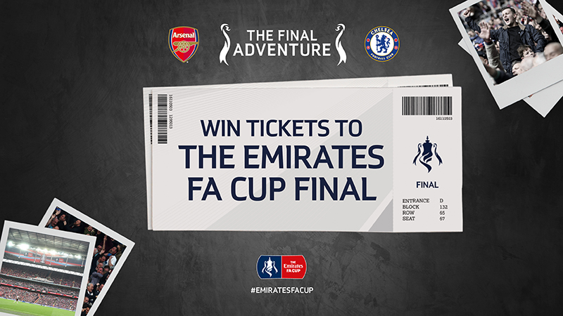 Win Two Tickets To Cheer On Arsenal Or Chelsea At The Emirates Fa