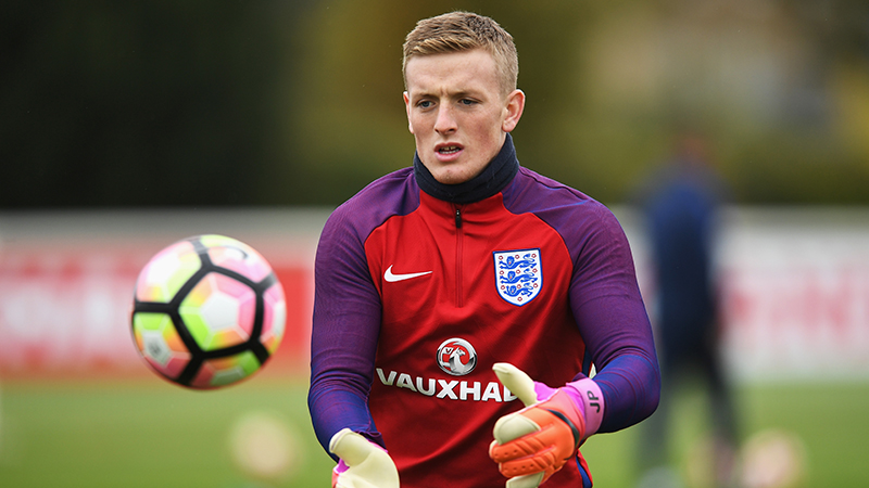 Goalkeeper Jordan Pickford out of England squad with muscle injury