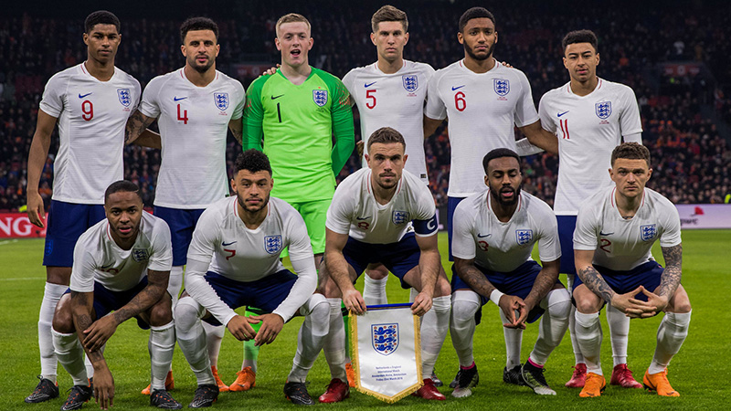 England's starting line-up to face the Netherlands in Amsterdam in March 2018
