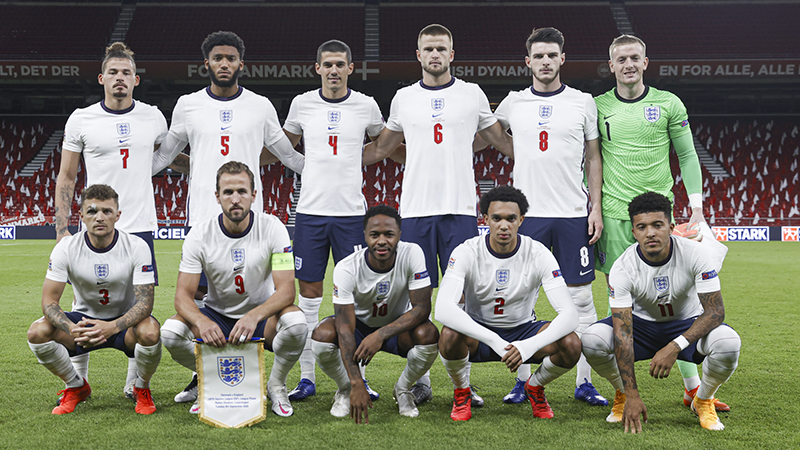 England line-up to play Denmark