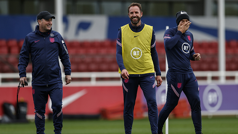 England manager Gareth Southgate in training at St. George's Park