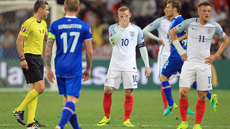 England's Wayne Rooney during the defeat to Iceland at EURO 2016